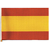 SPAIN HANDHELD FLAG (4X6 IN.) PARTY SUPPLIES