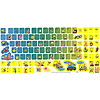 DISCONTINUED SPONGEBOB KEYBOARD STICKERS PARTY SUPPLIES