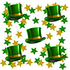 ST PATRICKS DAY GREEN HAT DECO FETTI PARTY SUPPLIES