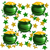 ST PATRICKS DAY POT OF GOLD DECO FETTI PARTY SUPPLIES
