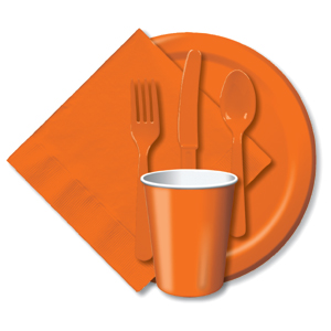 BULK ORANGE TABLEWARE