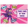 SUPERHERO GIRL CUSTOMIZED PLACEMAT PARTY SUPPLIES