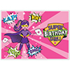 SUPERHERO GIRL PLACEMAT PARTY SUPPLIES