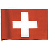 SWITZERLAND HANDHELD FLAG (4X6 IN.) PARTY SUPPLIES