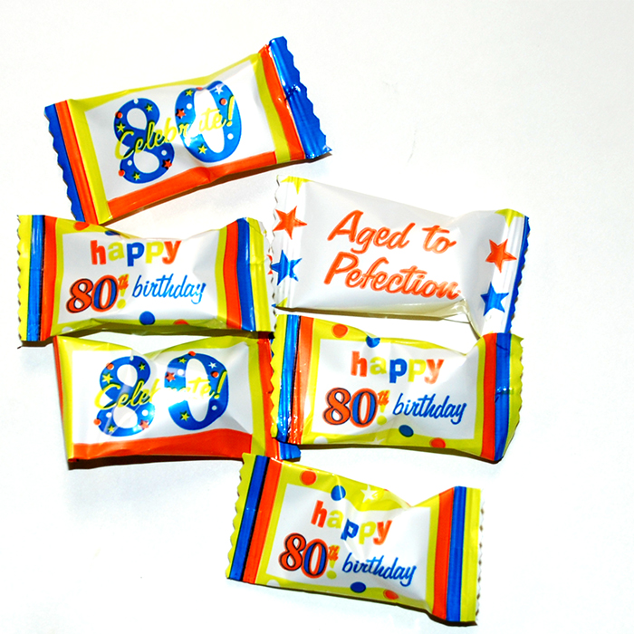 80TH BIRTHDAY BUTTERMINTS PARTY SUPPLIES