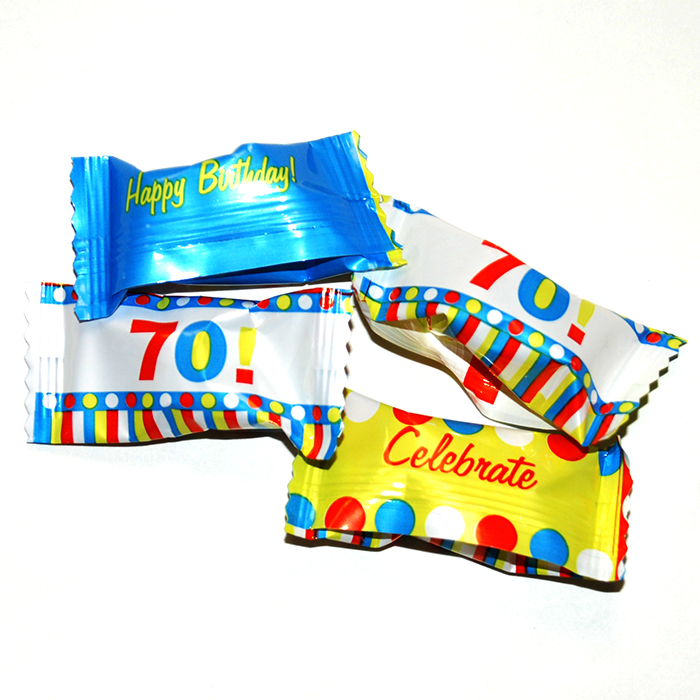 70TH BIRTHDAY BUTTERMINTS PARTY SUPPLIES