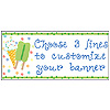 PERSONALIZED SUMMER FUN BANNER PARTY SUPPLIES