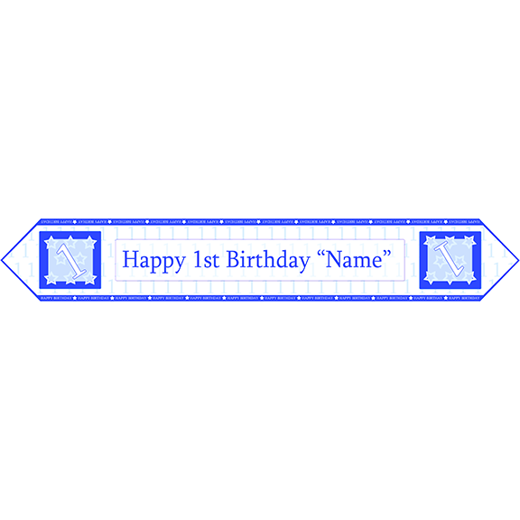 1ST BIRTHDAY BLUE TABLE BANNER PARTY SUPPLIES