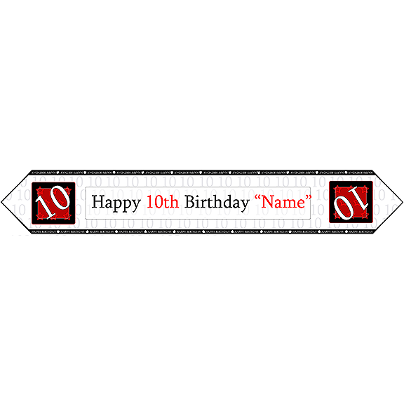 10TH BIRTHDAY RED TABLE BANNER PARTY SUPPLIES