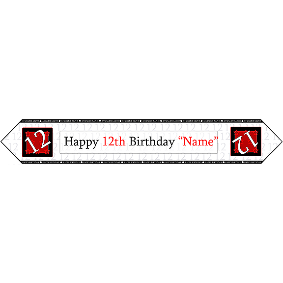 12TH BIRTHDAY RED TABLE BANNER PARTY SUPPLIES