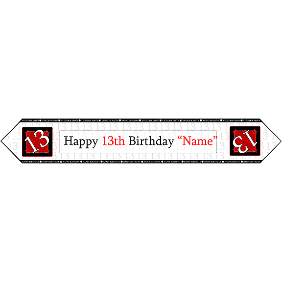 13TH BIRTHDAY RED TABLE BANNER PARTY SUPPLIES