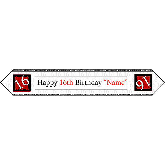 16TH BIRTHDAY RED TABLE BANNER PARTY SUPPLIES