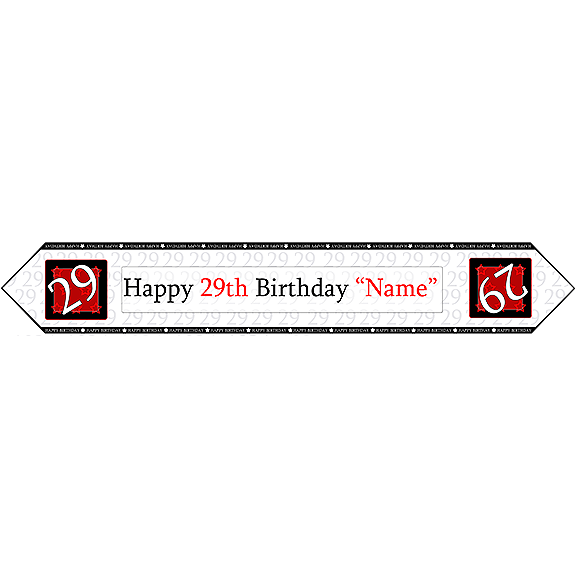 29TH BIRTHDAY RED TABLE BANNER PARTY SUPPLIES