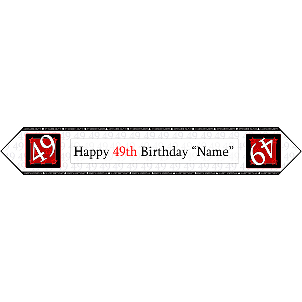 49 Happy Birthday Party Supplies 49th Birthday Red Table Banner