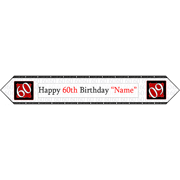 60TH BIRTHDAY RED TABLE BANNER PARTY SUPPLIES