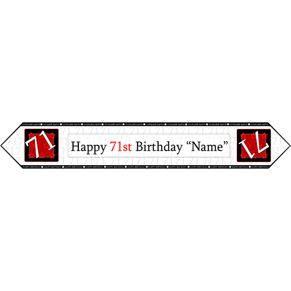 71ST BIRTHDAY RED TABLE BANNER PARTY SUPPLIES
