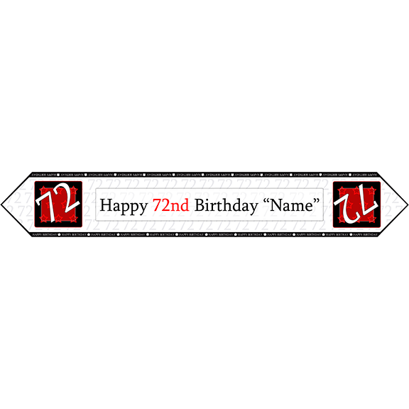72ND BIRTHDAY RED TABLE BANNER PARTY SUPPLIES