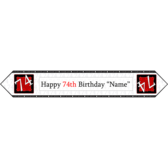 74TH BIRTHDAY RED TABLE BANNER PARTY SUPPLIES