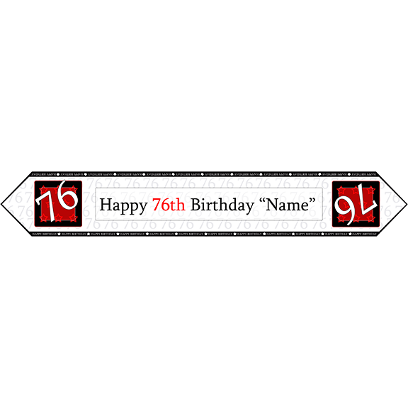 76TH BIRTHDAY RED TABLE BANNER PARTY SUPPLIES