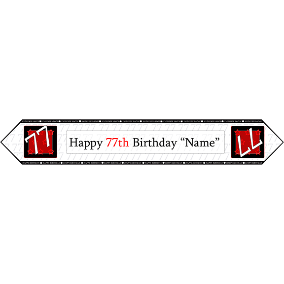 77TH BIRTHDAY RED TABLE BANNER PARTY SUPPLIES