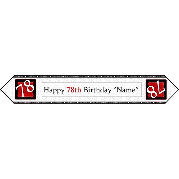 78TH BIRTHDAY RED TABLE BANNER PARTY SUPPLIES