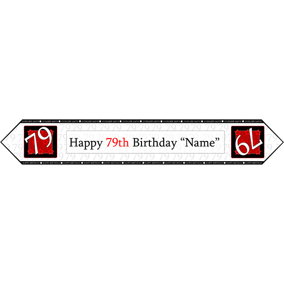 79TH BIRTHDAY RED TABLE BANNER PARTY SUPPLIES