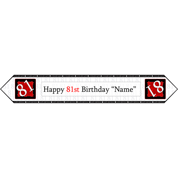 81ST BIRTHDAY RED TABLE BANNER PARTY SUPPLIES