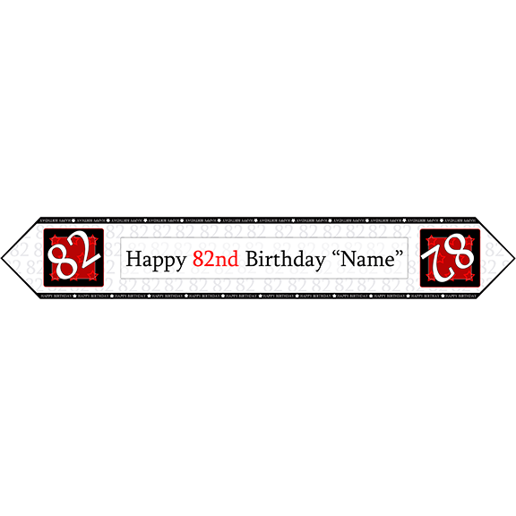 82ND BIRTHDAY RED TABLE BANNER PARTY SUPPLIES