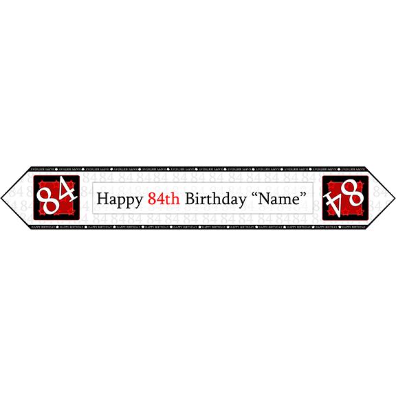84TH BIRTHDAY RED TABLE BANNER PARTY SUPPLIES