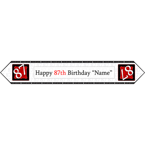 87TH BIRTHDAY RED TABLE BANNER PARTY SUPPLIES