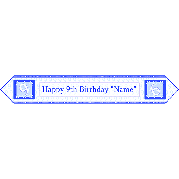 9TH BIRTHDAY BLUE TABLE BANNER PARTY SUPPLIES