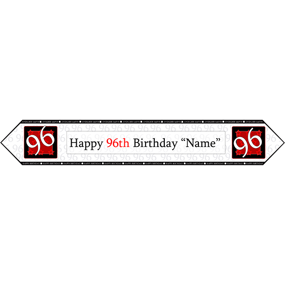 96TH BIRTHDAY RED TABLE BANNER PARTY SUPPLIES