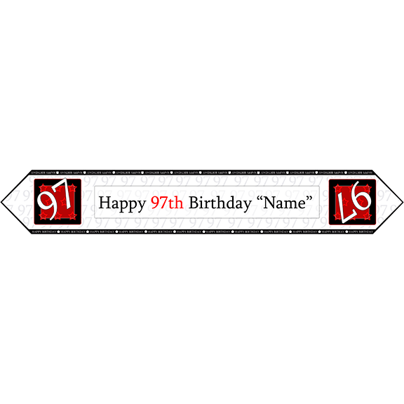 97TH BIRTHDAY RED TABLE BANNER PARTY SUPPLIES