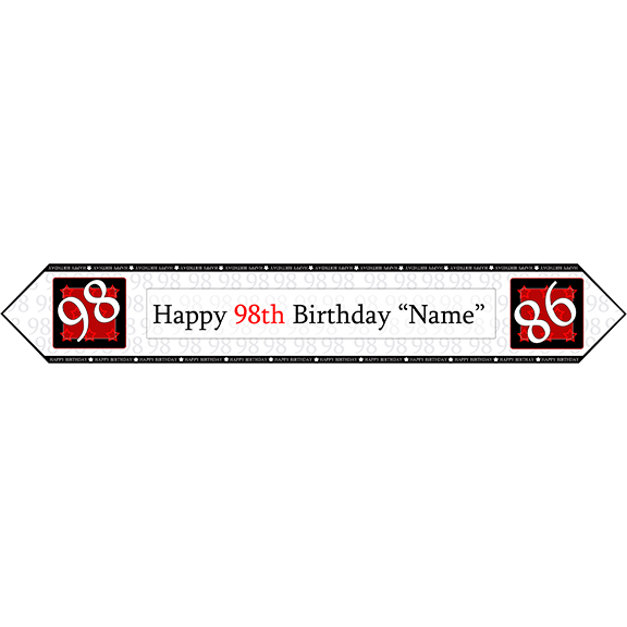 98TH BIRTHDAY RED TABLE BANNER PARTY SUPPLIES