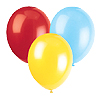 LIGHT BLUE - RED - YELLOW LATEX BALLOONS PARTY SUPPLIES