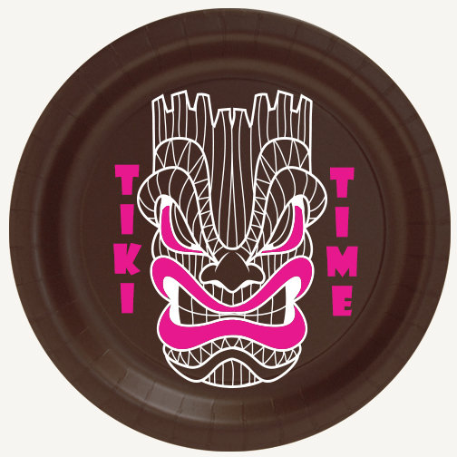 TIKI TIME DESSERT PLATE PARTY SUPPLIES
