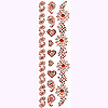 DISCONTINUED HEARTS  &  FLOWERS PARTY SUPPLIES