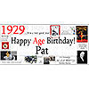 1929 DELUXE PERSONALIZED BANNER PARTY SUPPLIES