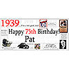 1939 DELUXE PERSONALIZED BANNER PARTY SUPPLIES