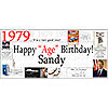 1979 DELUXE PERSONALIZED BANNER PARTY SUPPLIES