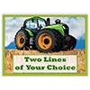 TRACTOR TIME CUSTOMIZED PLACEMAT PARTY SUPPLIES