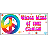 PERSONALIZED TIE DYE BANNER PARTY SUPPLIES