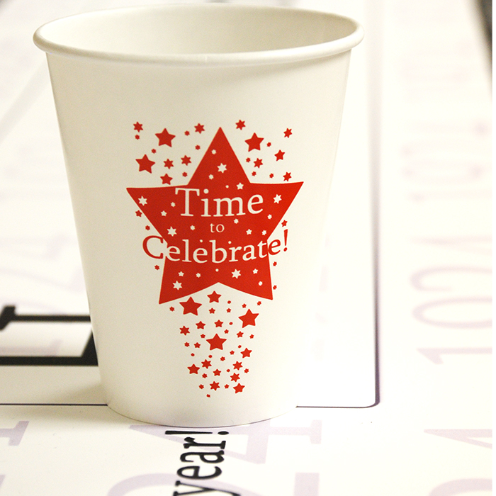 Click for larger picture of A TIME TO CELEBRATE 9 OZ. CUP  (8/PKG) PARTY SUPPLIES