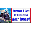 PERSONALIZED TRAIN BANNER PARTY SUPPLIES