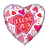 DISCONTINUED LOVIN HEARTS MYLAR BALLOON PARTY SUPPLIES