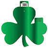 GREEN SHAMROCK FOIL CUTOUT (12/CS) PARTY SUPPLIES