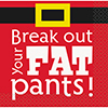 BREAK OUT FAT PANTS BEVERAGE NAPKIN (192 PARTY SUPPLIES