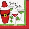 SHAKE IT SANTA BEVERAGE NAPKIN (192/CS) PARTY SUPPLIES
