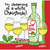 DREAMING WHITE XMAS BEVERAGE NAPKIN (192 PARTY SUPPLIES