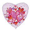 DISCONTINUED HEARTS FOIL MYLAR BALLOON PARTY SUPPLIES